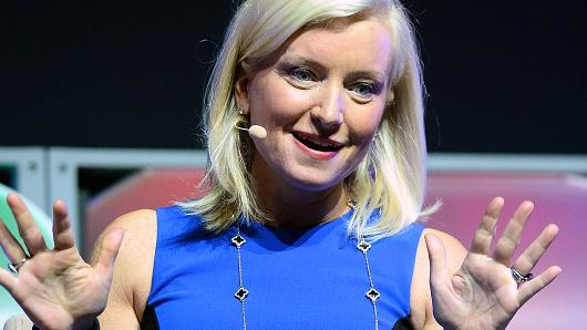 Facebook's Carolyn Everson speaking at Advertising Week event in New York City